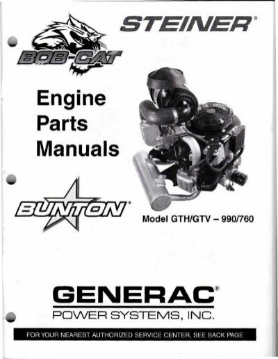 Engine Parts Manuals GENERAC