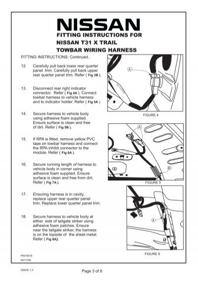 nissan x trail t31 wiring diagram 120v motor fitting instructions:fitt