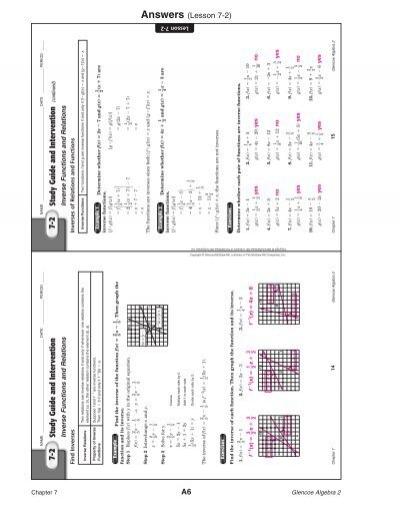Answers (Lesson 7-2)Lesso