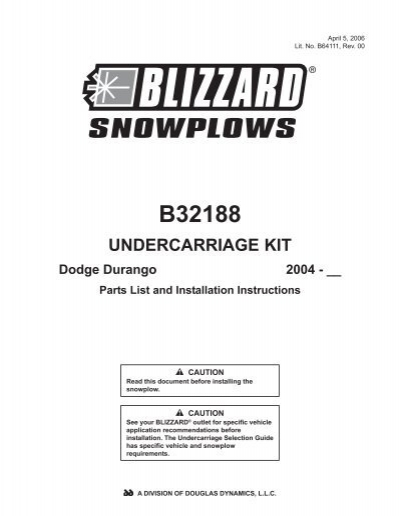 PL/II Undercarriage Kit Dodge Durango 2004-__ #B32188