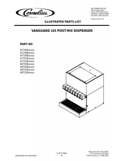 vanguard 245 post-mix dispenser (remote)