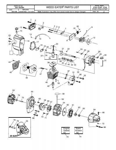Trimmer Model:PARTS LIST