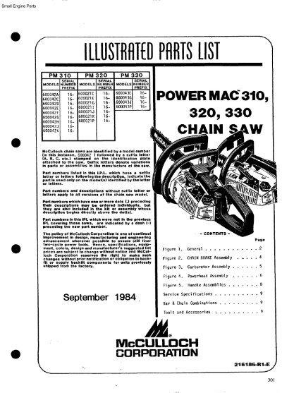 IPL, McCulloch, Power Mac 310, Power Mac 320, Power Mac