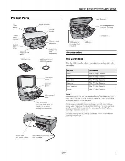 Epson Epson Stylus Photo RX595 All-in-One Printer