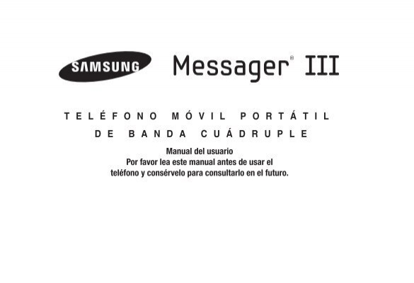 Samsung Samsung Messager® III (Metro PCS) QWERTY Cell