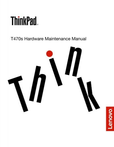 T470s Hardware Maintenance Manual