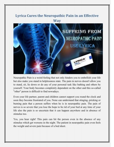 Lyrica is an Effective way to Treat Nerve Pain