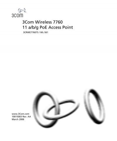 3Com Wireless 7760 11a/b/g PoE Access Point User Manual