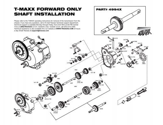 T-MAXX FORWARD ONLY SHAFT INSTALLATION