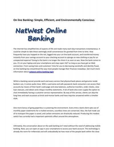 8 Natwest Online Banking