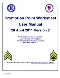 Us army hrc promotion point worksheet