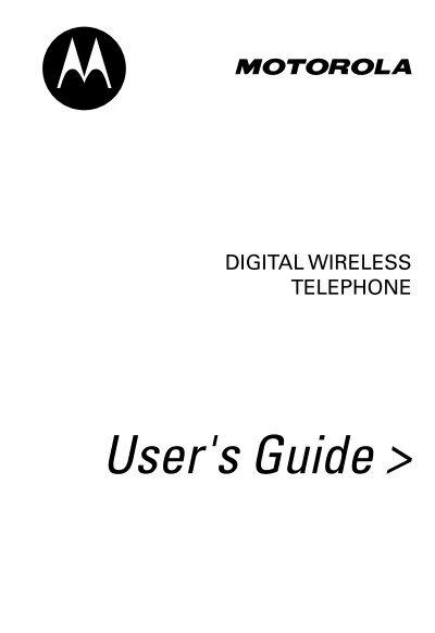 Motorola V66 User manual