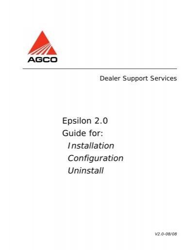 Epsilon 2.0 Guide for: Installation Configuration