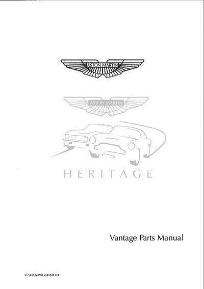 Vantage Parts Manual