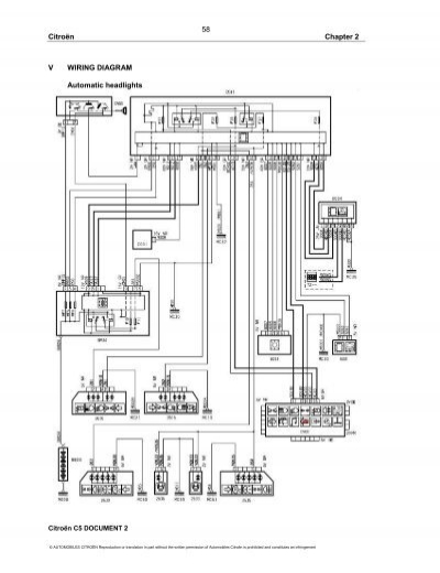 Citroën V WIRING DIAGRAM