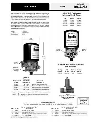 AD-SP Air Dryer