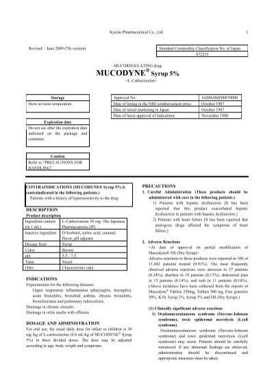 MUCODYNE® Syrup 5%