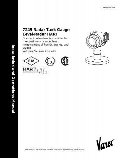 7245 Radar Tank Gauge Level-Radar HART (software