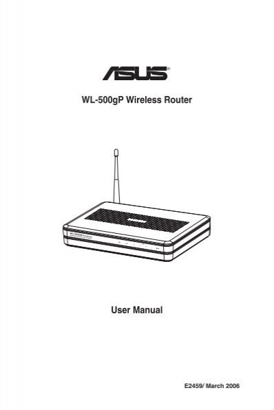 ASUS WL-500GP MANUAL PDF