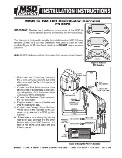 6 Pin Wiring Diagram Gm Msd To Gm Hei Distributor Harness Msd Ignition