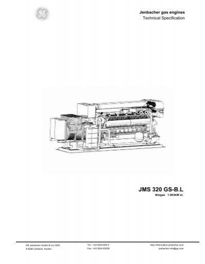 Gas Engines: Jenbacher Gas Engines Technical Specification