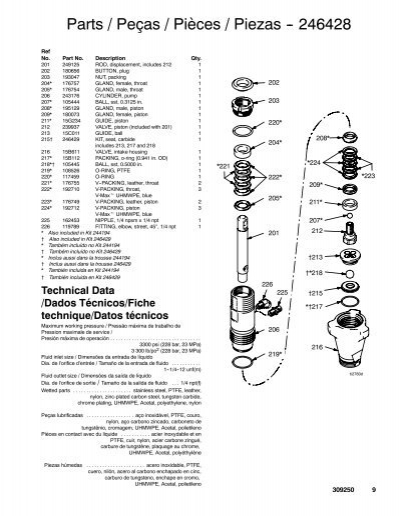 10 309250 Parts / Peças