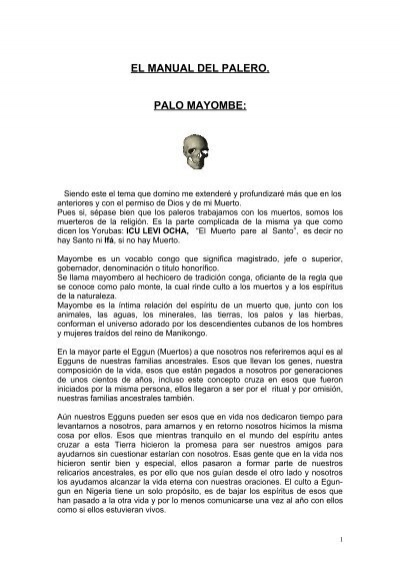 EL MANUAL DEL PALERO PALO MAYOMBE  Dominiccinet