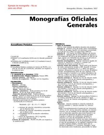 ejemplo de monografía de USP–NF en español
