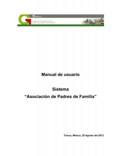 """Manual de usuario Sistema """"Asociación de Padres de Familia"""""""