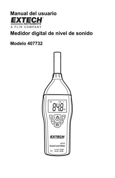 Manual del usuario Medidor digital de nivel de sonido