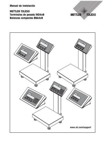 Manual de instalación METTLER TOLEDO Terminales de pesada
