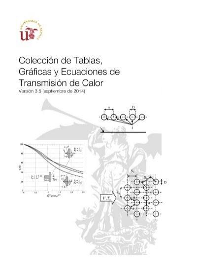 Colección de Tablas, Gráficas y Ecuaciones de Transmisión