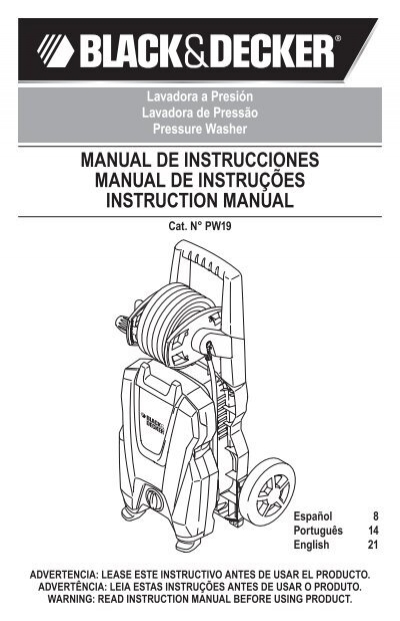 manual de instrucciones manual de instruções instruction