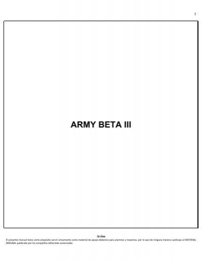 2 ARMY BETA III