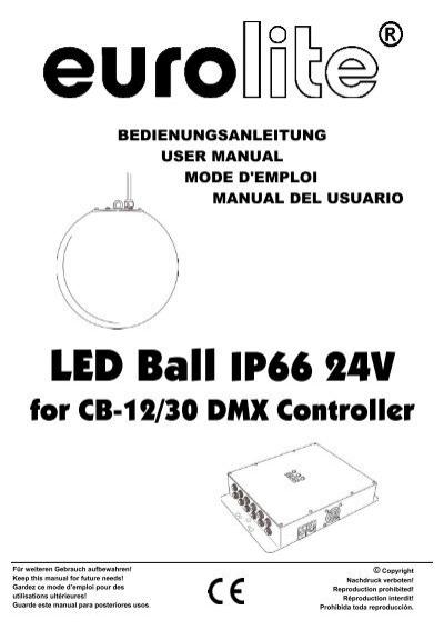 EUROLITE LED Ball for CB-12/30 DMX Controller user manual