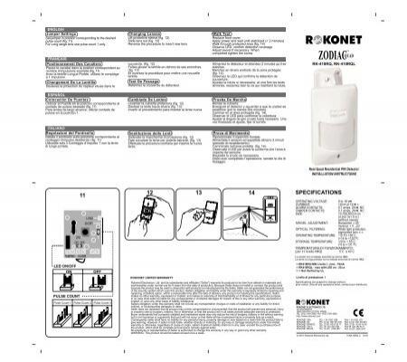 Rokonet Zodiac Quad PIR Motion Sensor Installation