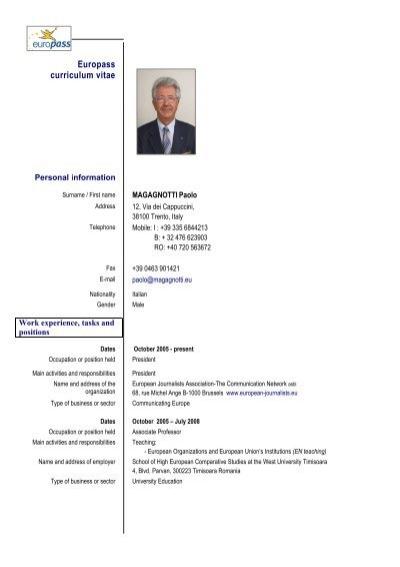 Europass Cv Norsk Resume Format 2015