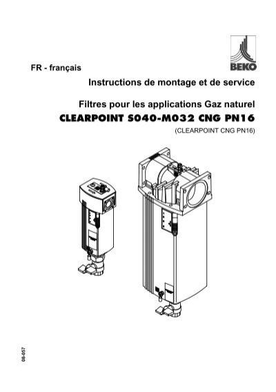 Instructions de montage et de service Filtres pour les