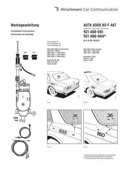 Montageanleitung AUTA 6000 KE-F 467 921 488-001 921 488-004*