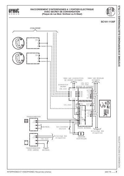 SYSTEME D'INTERPHONES E