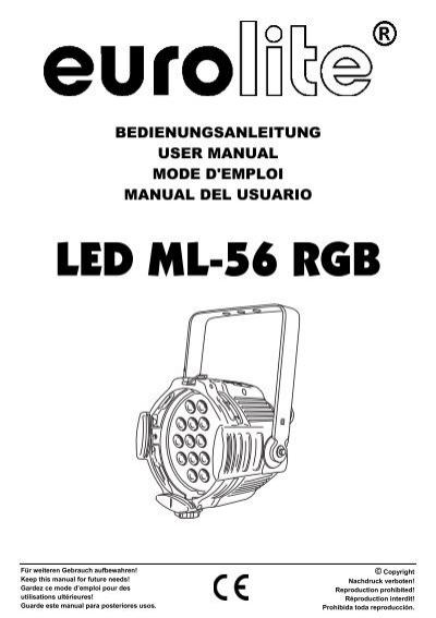 EUROLITE LED ML-56 RGB Spot User Manual