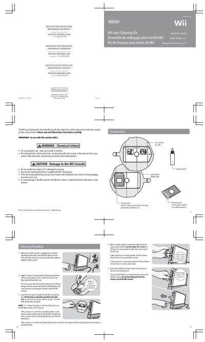Wii Lens Cleaning Kit Ensemble de nettoyage pour lentille