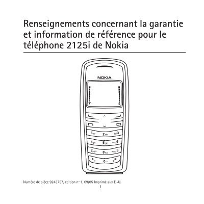 Renseignements concernant la garantie et information de