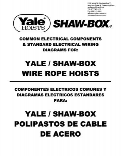 yale / shaw-box wire rope hoists yale / shaw-box