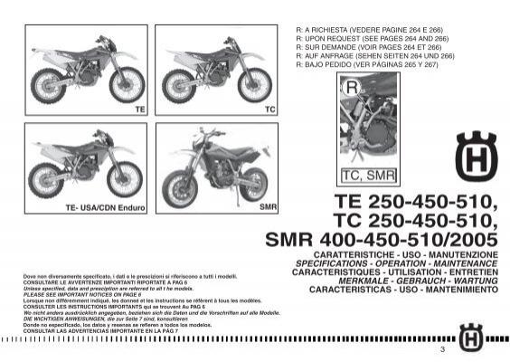 TE 250-450-510, TC 250-450-510, SMR 400-450-510