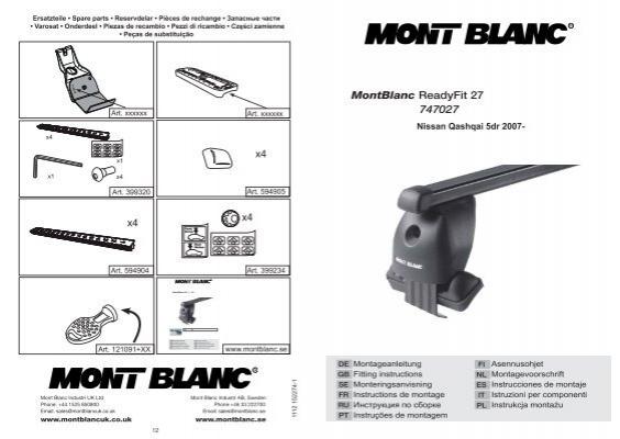 MontBlanc ReadyFit 27 747027