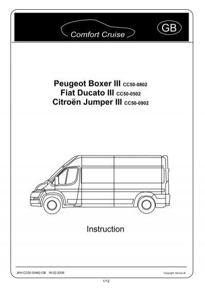 Peugeot Boxer III CC50-0802 Fiat Ducato III CC50-0502