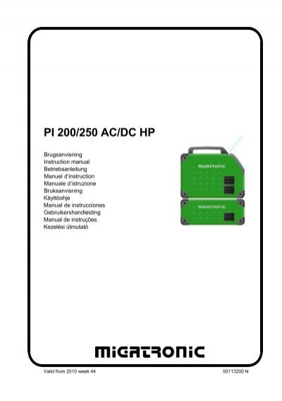 PI 200/250 AC/DC HP