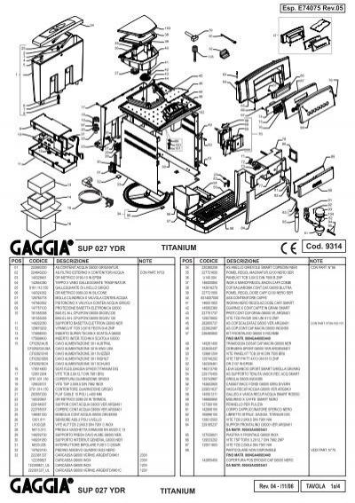 E74075 rev05 (Gaggia SUP 027 YDR).indd