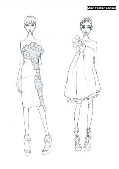 Download Free fashion design coloring Scaricare Figurini
